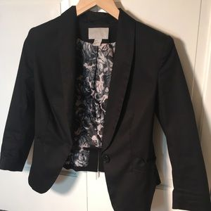 H&M Black Jacket with Bow Trim